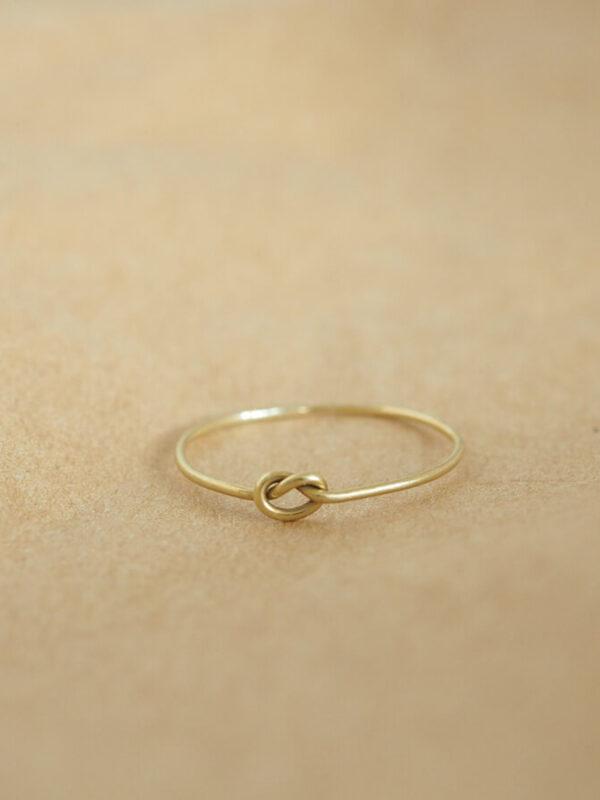 Gouden Knoopje Ring