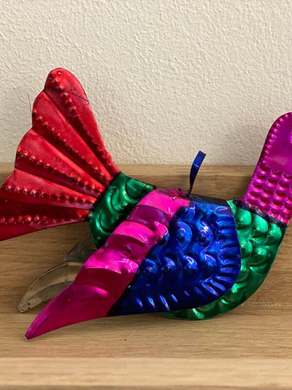 Vogel van blik kleurrijk | Moonflower Store