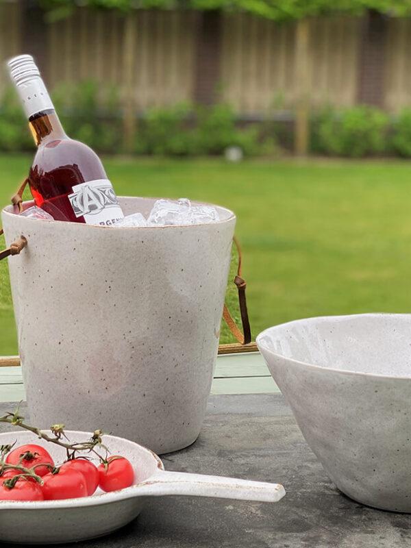 Wijnkoeler Stone creme