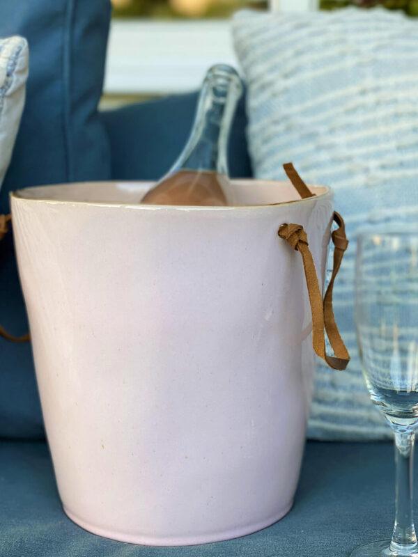 Wijnkoeler Stone Roze
